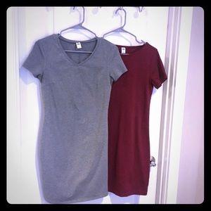 2 Old Navy T-shirt dresses